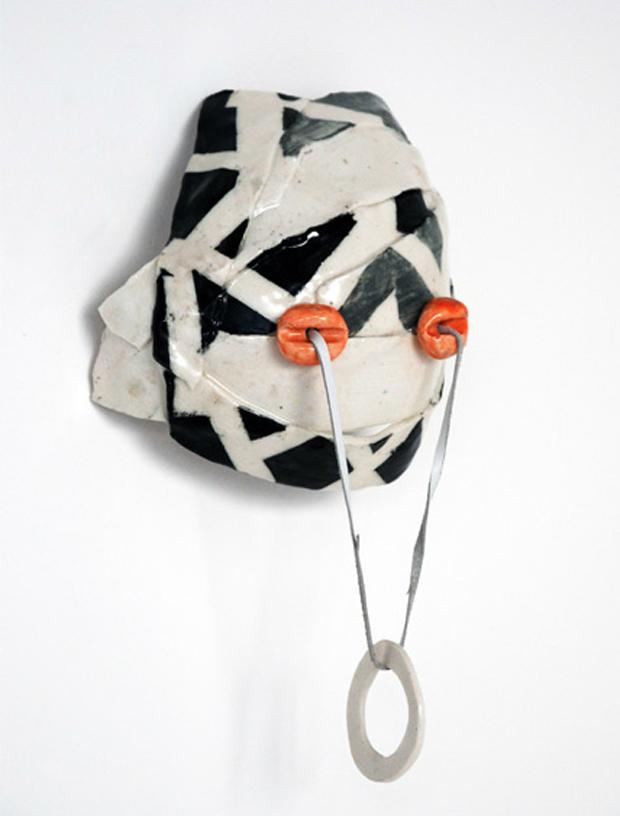 Ringo-B (2010) ceramic, leather