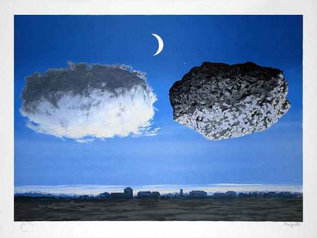 René Magritte - La Bataille de L'Argonne (1964) Lithograph