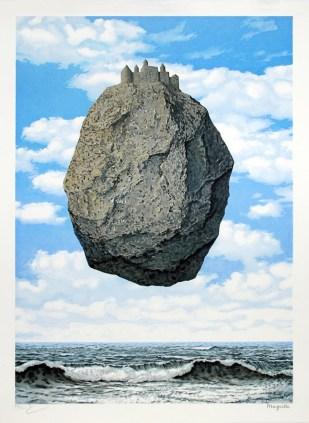 René Magritte - Le Chateau de Pyrenees (1959) Israel Museum, Jerusalem