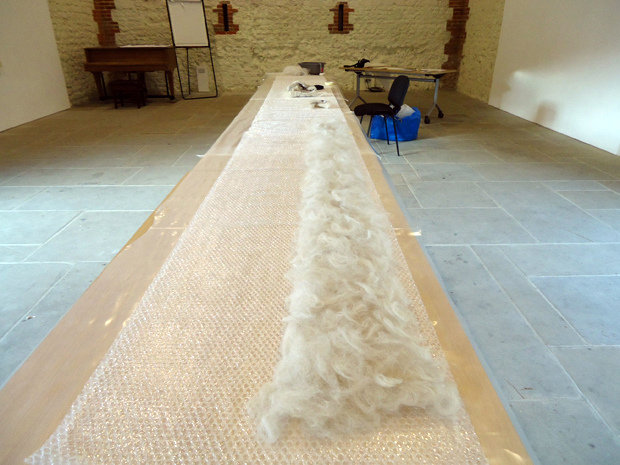 Anne Alldread - Felt Object (work-in-progress), West Dean College Residency 2013