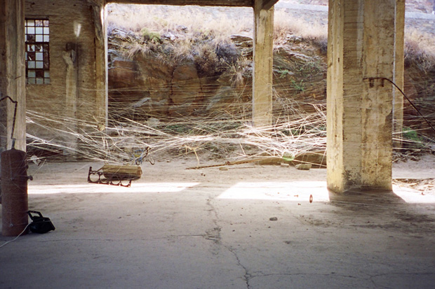 Ismini Samanidou - The Revenge of Arachni (2003) Installation, Kea, Greece