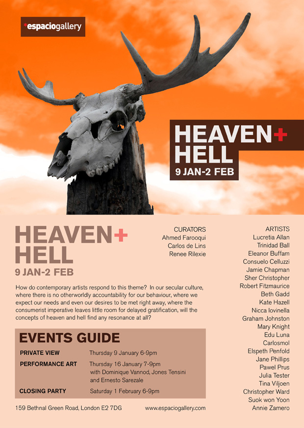 Heaven + Hell exhibition invite 2014