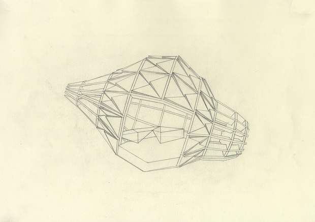 George Charman Artichoke House Drawing 1