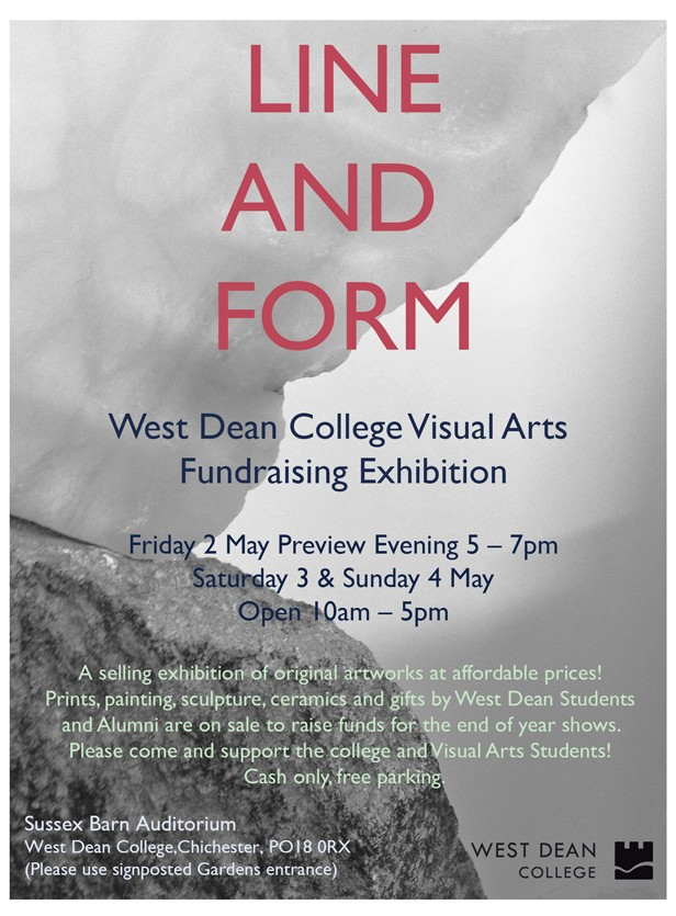 Line And Form In Art : 'line and form fundraising exhibition west dean