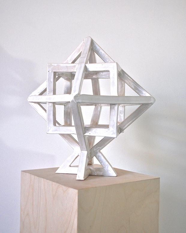 Rebecca Partridge, Cube Octahedron, Ceramic 25 × 25 x 25 cm