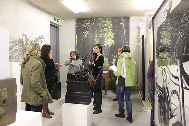 West Dean Visual Arts students visit the archive at CASS Sculpture Foundation