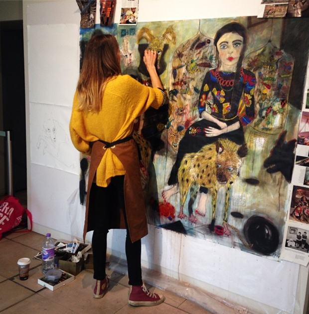 Freya Pocklington at work during residency at Somerset House