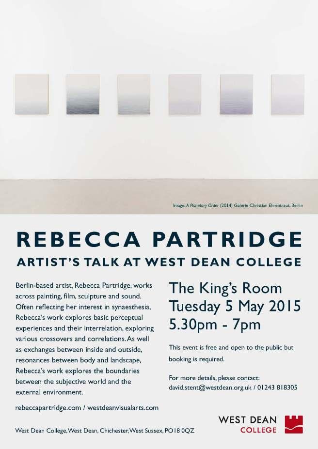 Artist Talk - Rebecca Partridge