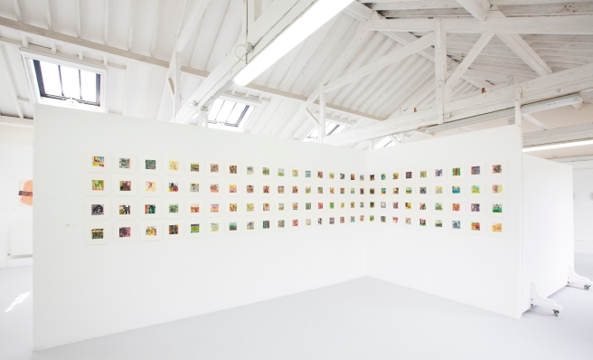 West Dean College MFA Summer Show. Conflict Concealed, monoprints by Peta Devine. Picture date: Friday July 3, 2015. Photograph by Christopher Ison © 07544044177 chris@christopherison.com www.christopherison.com