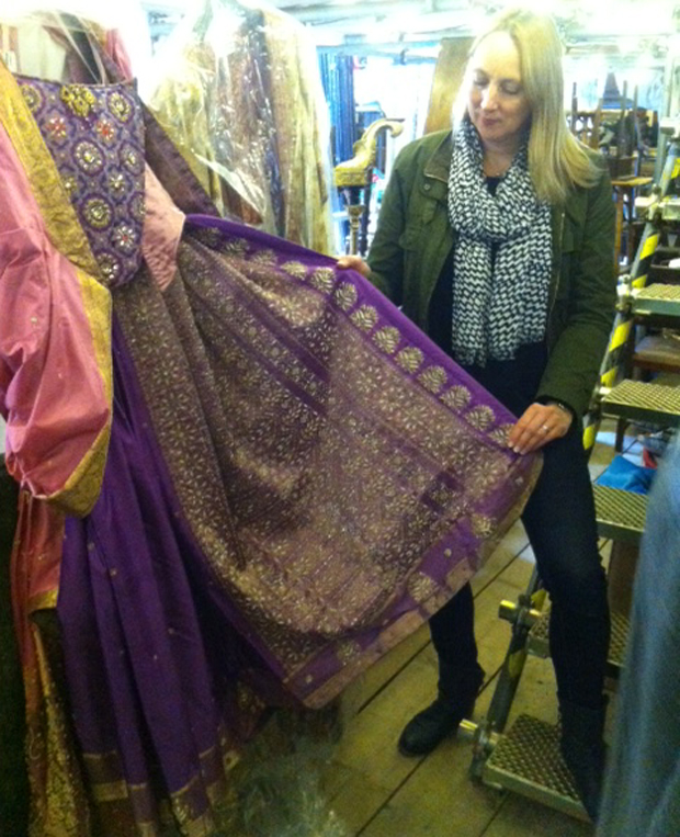 Katie Hennessy at CFT costume and prop store