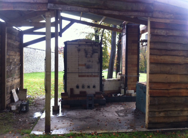 The wood-kiln at CASS Sculpture Foundation