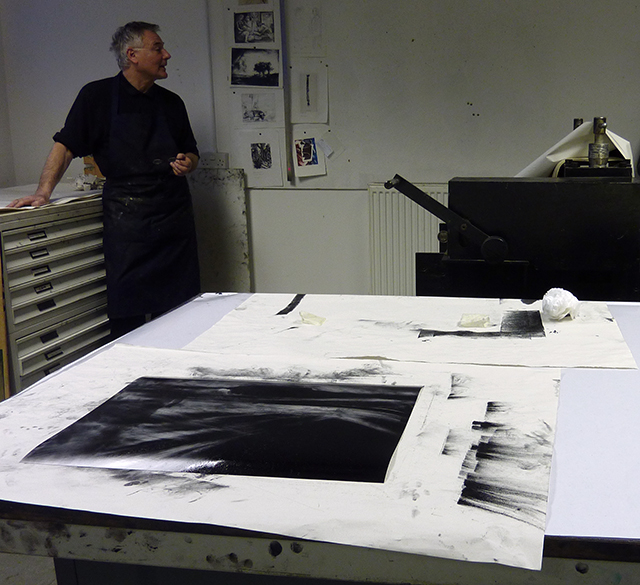 Marcus Rees Roberts in the Print Room
